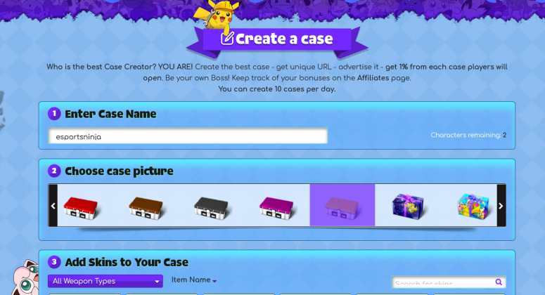 create cs go case