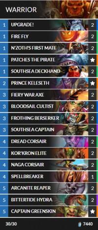hearthstone best deck builder warrior