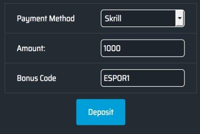 esporbet com promo bonus code free money