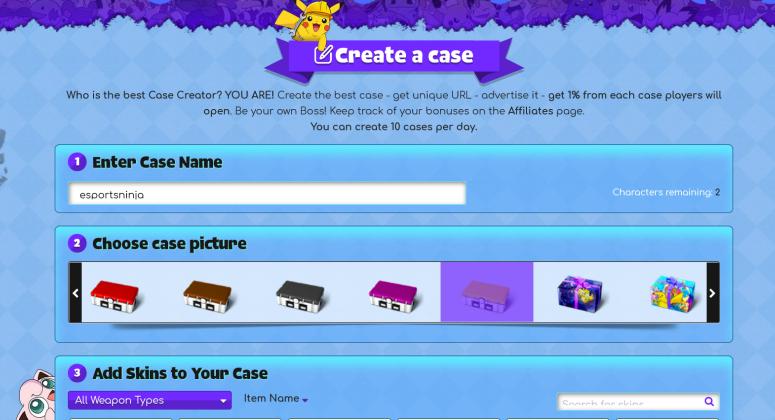 create cs go case