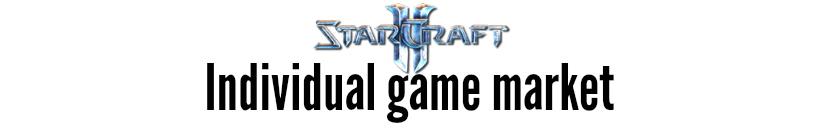 starcraft individual game market