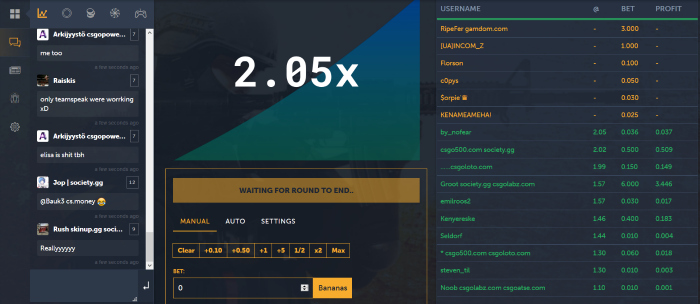 counter strike betting options