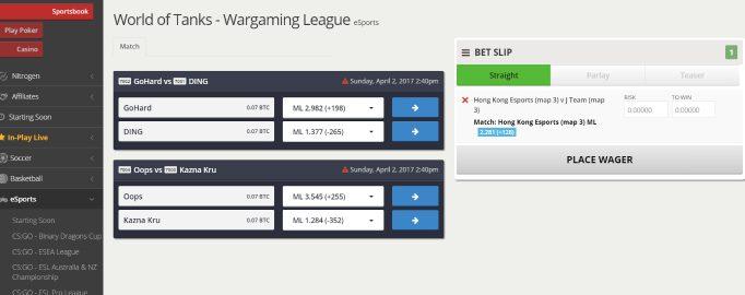 NitrogenSports Trusted Bitcoin Esports Betting Website