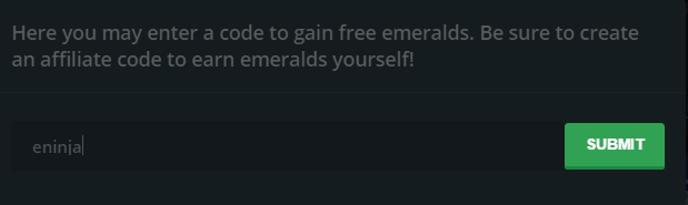 emerald gg bonus free skins
