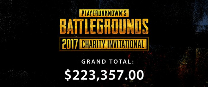 pubg best events 2017 charity invitational