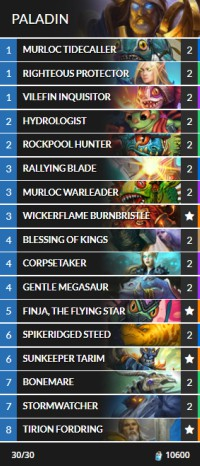 hearthstone tier 2 deck builder